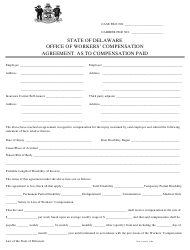 """""""Agreement as to Compensation Paid"""" - Delaware"""