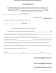 """Petition to Determine Disfigurement"" - Delaware"