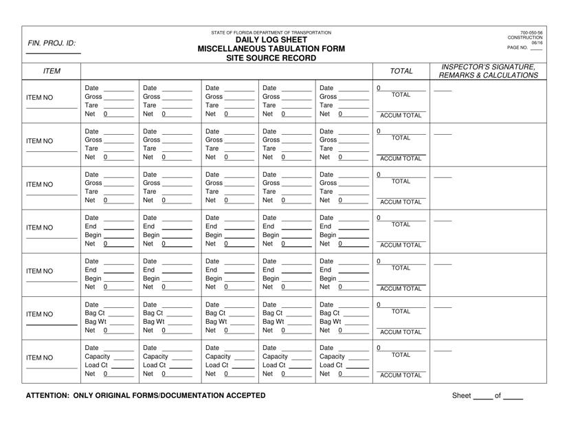 Form 700-050-56  Printable Pdf