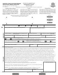 """Form JD-CV-5 """"Property Execution Proceedings - Application, Order, Execution"""" - Connecticut"""