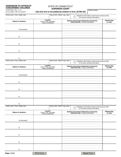 Form JD-FM-164A  Printable Pdf