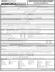 "Form DWS-ARK-501 ""Application for Unemployment Insurance Benefits"" - Arkansas"
