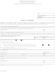 "Form UIB-188 ""Medical Statement"" - Colorado"