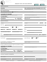 "Form BCIA/BOF8016 ""Request for Live Scan Service for Post-certification"" - California"