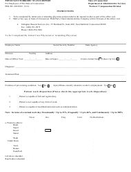 "Form PER-WC-208 ""Physicians Workers' Status Report"" - Connecticut"