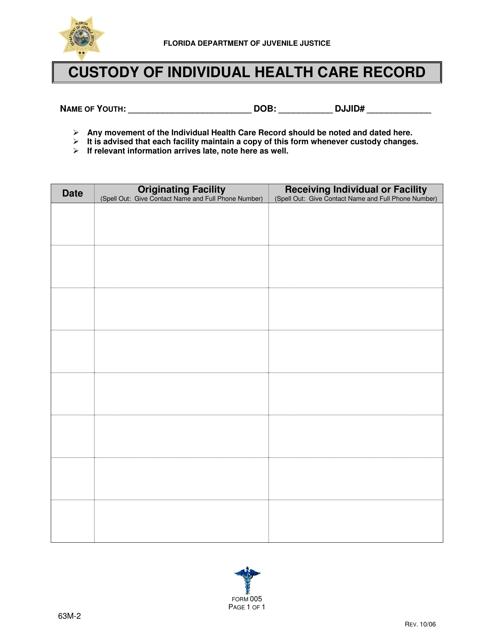 DJJ Form HS005  Printable Pdf