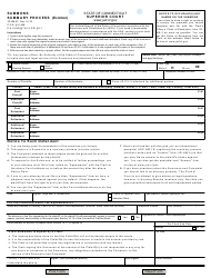 Form JD-HM-32 Summons - Summary Process (Eviction) - Connecticut