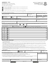 "Form Jd-Cv-1 ""Summons - Civil"" - Connecticut"
