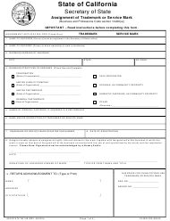 Form TM 108 Assignment of Trademark or Service Mark - California