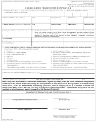 "Form DTSC1299 ""Consolidated Transporter Notification"" - California"