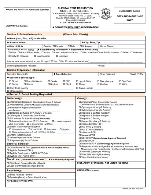 Form OL-9B  Printable Pdf