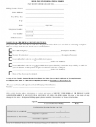 DEP Form 18-21.900(1) Billing Information Form - Florida