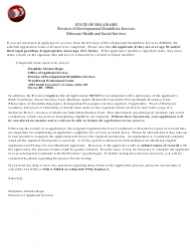 Form 09/ADMIN Application for Services - Delaware