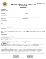 Form 1B Badge Form - Florida