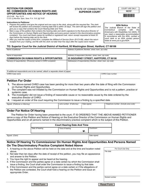 Form JD-CV-68  Printable Pdf