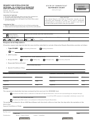 Form JD-CL-54 Request and Stipulation for Referral to a Private Alternative Dispute Resolution (Adr) Provider - Connecticut