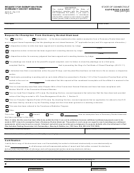 Form JD-CL-71 Request for Exemption From Dormancy Docket Dismissal - Connecticut
