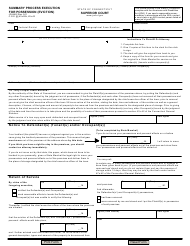 Form JD-HM-2 Summary Process Execution for Possession (Eviction) - Connecticut
