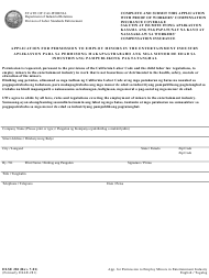 """DLSE Form 281 """"Application for Permission to Employ Minors in the Entertainment Industry"""" - California (English/Tagalog)"""
