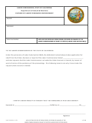 """DLSE Form 538 """"Application for Relief From Order, Decision or Award of the Labor Commissioner by Want of Notice [labor Code Section 98(F)]"""" - California"""