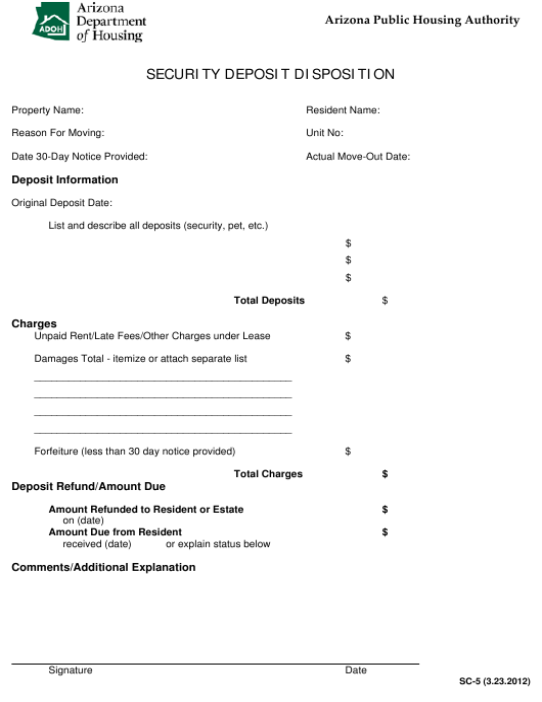 Form SC-5  Printable Pdf
