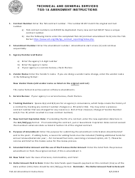 Instructions for Form Tgs-1a - Amendment to Technical and General Services Contract