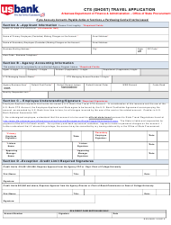 Cts (Ghost) Travel Application Form - Arkansas