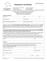 Form GEN 023 Physician's Certificate - Alaska