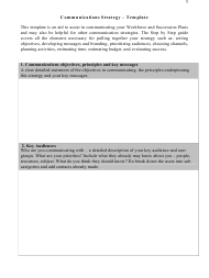 Communications Strategy - Template - Delaware