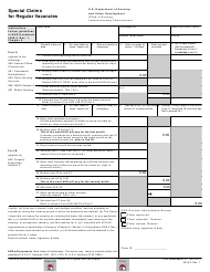 "Form HUD-52671-C ""Special Claims for Regular Vacancies"""