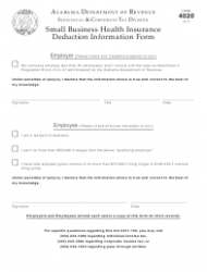 Form 4020 Download Fillable PDF or Fill Online Small ...