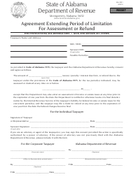 "Form BA: RS1 ""Agreement Extending Period of Limitation for Assessment or Refund"" - Alabama"