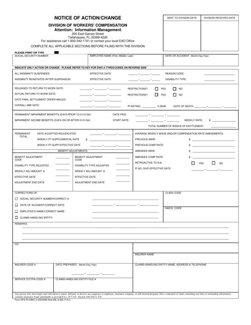 Form DFS-F2-DWC-4  Printable Pdf