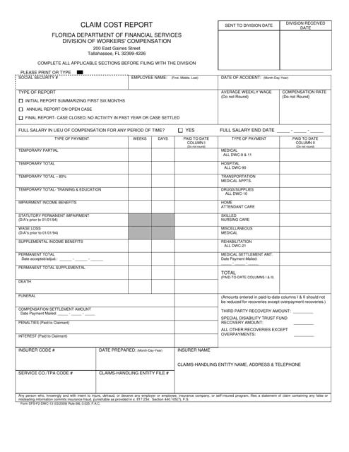 Form DFS-F2-DWC-13  Printable Pdf