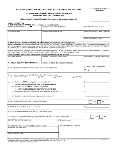 Form DFS-F2-DWC-14  Printable Pdf