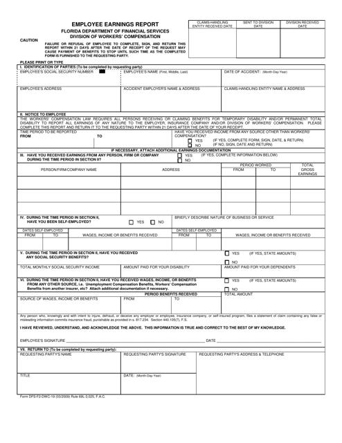 Form DFS-F2-DWC-19 Printable Pdf