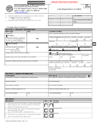 Form DWR 55-65 Late Registration of a Well - Arizona
