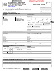 "Form DWR55-39 ""Notice of Well Capping"" - Arizona"