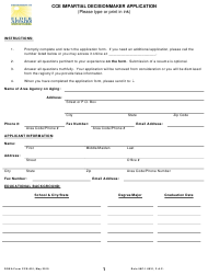 "Form CCE-001 ""Cce Impartial Decisionmaker Application"" - Florida"