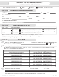 "Form 001 ""Professional Guardian Registration Form"" - Florida"