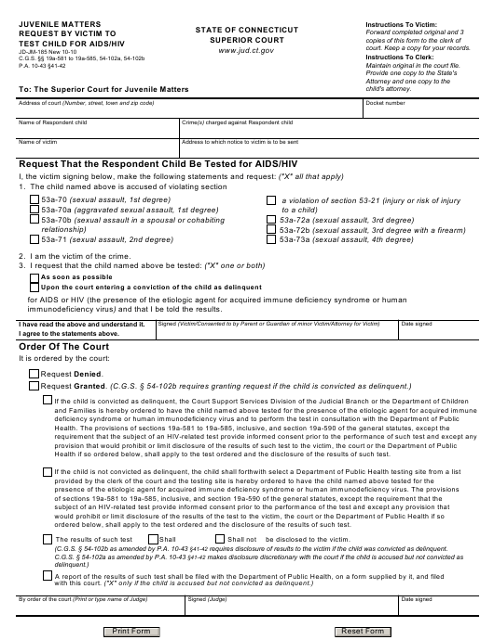 Form JD-JM-185  Printable Pdf