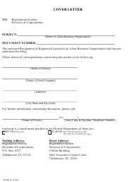 "Form INHS70 ""Resignation of Registered Agent for an Alien Business Organization"" - Florida"