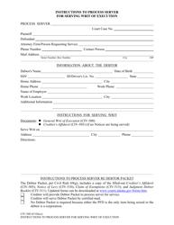 "Form CIV-560 ""Instructions to Process Server for Serving Writ of Execution"" - Alaska"