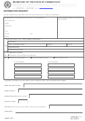 "Form URI-1-1.1 ""Information Request"" - Connecticut"