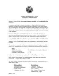 "Form CR2E016 ""Articles of Revocation of Dissolution for a Florida Not for Profit Corporation"" - Florida"
