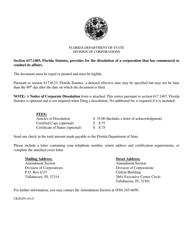 "Form CR2E059 ""Non-profit Articles of Dissolution"" - Florida"