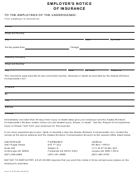 "Form 07-6120 ""Employer's Notice of Insurance"" - Alaska"