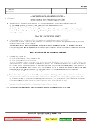 "Form WG-008 ""Notice of Filing of Claim of Exemption (Wage Garnishment)"" - California, Page 2"