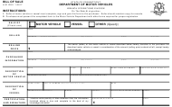 Form H-31 Vehicle/Boat Bill of Sale - Connecticut