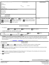 "Form FL-300 ""Request for Order"" - California"